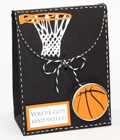 This project is for the My Pink Stampers design team post. Our theme is party favors. I wanted to use the new My Pink Stampers stamp set . Basketball Birthday Cards, Basketball Party Favors, Basketball Decorations, Basketball Gifts, Softball Gifts, Cheerleading Gifts, Goodie Bags, Scrapbook Cards, Scrapbooking