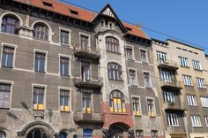 intricate detail in the design of the tenement block in Lodz-arch.R.Miller