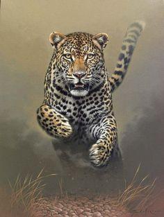 Wildlife Paintings, Wildlife Art, Animal Paintings, Animal Drawings, Animal Illustrations, Big Cats Art, Cat Art, Beautiful Cats, Animals Beautiful