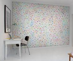 Wall mural Twinkle Twinkle By RebelWalls (existe en gris) Free Wallpaper Samples, Metallic Colors, Innovation Design, Twinkle Twinkle, Decoration, Girl Room, Wall Murals, Rebel, Color Pop