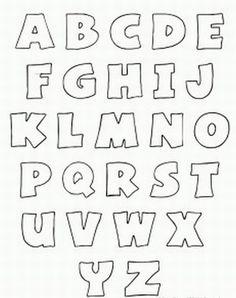 Free Printable Alphabet stencils | Printable Bubble Letters: Capitalized | Playsational