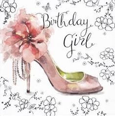 Birthday Girl - Shoe - Message Inside: Happy Birthday - Roam Cards