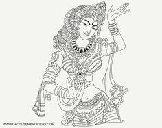 Kerala Mural Painting, Buddha Painting, Madhubani Painting, Outline Drawings, Pencil Art Drawings, Glass Painting Designs, Indian Folk Art, Hindu Art, Traditional Paintings