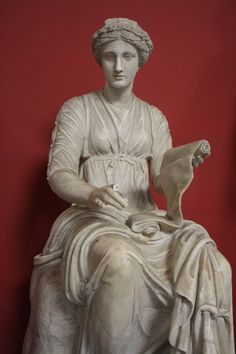 A Roman sculpture of unknown date depicting Clio the Muse of history. (Vatican Museums, Rome).