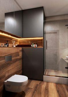 38 Latest Bathroom Design Ideas To Try Asap Bathroom Design Luxury, Modern Bathroom Decor, Modern Bathroom Design, Modern Interior Design, Small Bathroom, Bathroom Ideas, Master Bathroom, Bathroom Lighting, Bathroom Gallery