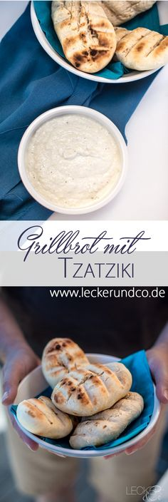 Einfaches Grillbrot mit Tzatziki
