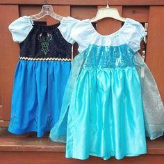 Elsa and Anna princess peasant style dresses