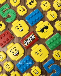 Such a fun theme for a little boy's birthday! Any othe… Lego birthday cookies! Such a fun theme for a little boy's birthday! Any other parents out there step on their kid's Lego and then… Lego Themed Party, Lego Birthday Party, 4th Birthday Parties, Birthday Cupcakes, Boy Birthday, Birthday Ideas, Lego Cookies, Lego Cupcakes, Lego Cake Pops