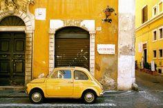 Fiat on a Rome street
