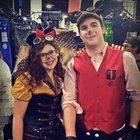 [Self] Girlfriend and I as Steampunk Mickey and Minnie at Boston Comic Con