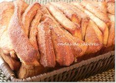 Pão Folhado de Açúcar e Canela