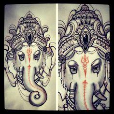 Something different #ink #inked #ganesh #tattoo #tattoos #missjuliet #draw #sketch #drawing