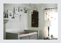 I love the idea of a black and white nursery but this gray one may suit my fancy as well.
