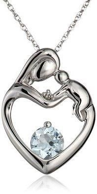 XPY 10k White Gold, Aquamarine, and Diamond Accent Mother's Jewel Heart Pendant Necklace, 18quot;  https://in.kato.im/a802561a648a566ff0b0f63e15f0d071698e03da0a7a0a2d1d91446448672d5/B0032AMFK8.html