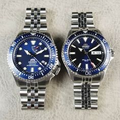 Handsome pair on bracelets on : on : Metal Watch Bands, Leather Watch Bands, Cool Watches, Watches For Men, Orient Watch, Seiko Watches, Breitling, Bracelet Watch, Mens Fashion