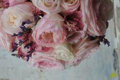 Ramo novia rosas jardin en rosa Mayula Flores