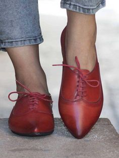 9903eb4068414d Women Leather Shoes Leather Oxfords Oxford Shoes Painted