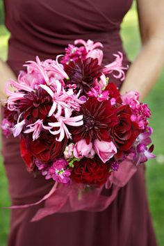 Shades of pink, red and burgundy Photo byGeoff White Photography