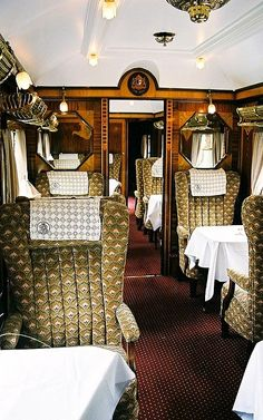 """Orient Express"" boat train from London to Southampton 