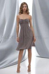 Chiffon Strapless Sweetheart Knee-Length Bridesmaid Dress