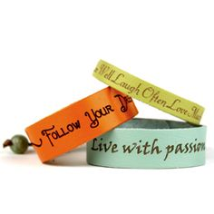 Dillon Rogers - Leather message bracelets with phrases