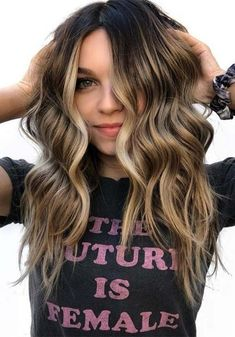 Balayage Hair Color Ideas for Brunettes in – Beauty Tips - All For Hair Color Trending Red Hair With Blonde Highlights, Red Blonde Hair, Brown Ombre Hair, Balayage Highlights, Light Brown Hair, Hair Color Balayage, Brunette Hair, Haircolor, Summer Hairstyles