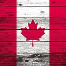 Canadian flag by creativelolo Flag, Wood, Artist, Poster, Design, Woodwind Instrument, Timber Wood, Wood Planks, Trees