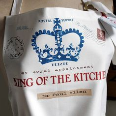 Loveharts King/Queen of the kitchen, home or castle.