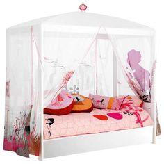 WONDERLAND by Life Time Lit Baldaquin avec lit gigogne + ciel de lit - Lit baldaquin - LIT ENFANT - CHAMBRE ENFANT