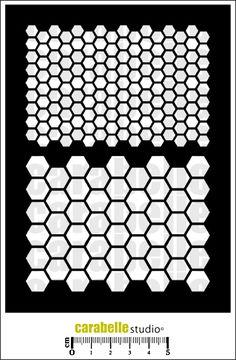 Pochoir Scrap - Nid d'abeilles - Art Template - CARABELLE STUDIO