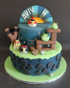I love getting new cake requests. When I was asked if I had ever made an Angry Birds cake, I said no, but I can! There are so many parts of the cake that I lo… Torta Angry Birds, Cumpleaños Angry Birds, 2nd Birthday Cake Boy, Angry Birds Birthday Cake, Buttercream Cake, Fondant Cakes, Beautiful Cakes, Amazing Cakes, Miss Cake