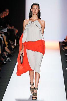 colour, flow, asymmetry.. perfect summer dress.. (by BCBG Max Azria via Vogue)