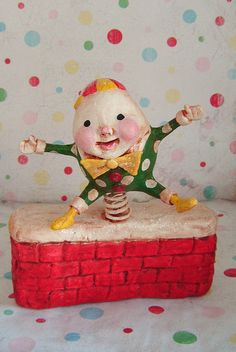 *PAPER CLAY ~ Custom Humpty Jumped! by thepolkadotpixie