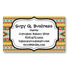 19 best native american business cards images on pinterest colorful aztec tribal native american diamonds business card colourmoves