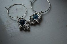 HAMSA HAND Earrings by JoellesEmporium on Etsy, £3.00