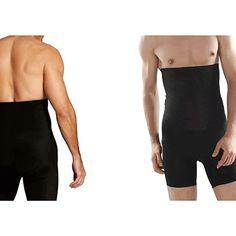 Beautyko USA Men Stomach Flattening Muscle Stimulating Trim Undershirt White M