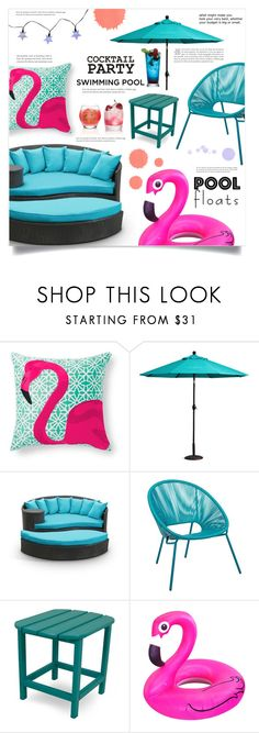 """Soak Up the Sun: Pool Party"" by dolly-valkyrie ❤ liked on Polyvore featuring interior, interiors, interior design, home, home decor, interior decorating, Grandin Road, Improvements, Smart Solar and poolparty"