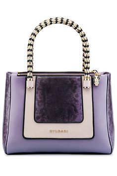 Bulgari-gorgeous handbag, silver workings and different gorgeous purple colors!!!! Oh YES PLEASE!