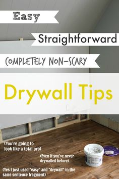 For real. Drywall is an easy DIY! You can DO it! No need to be intimidated AT ALL. For Jarod's projects :)