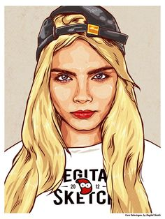 Cara Delevingne by Degital Sketch