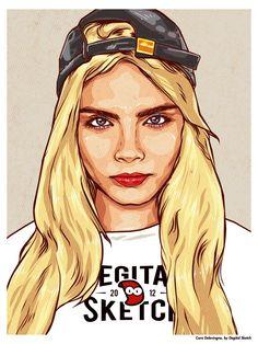 Cara Delevingne by Degital Sketch