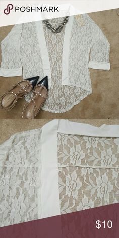 Lace cardigan Nwt Tops