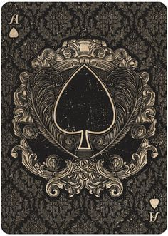 Ace of Spades by Chris Ovdiyenko for Bicycle Playing Cards. #kickstarter