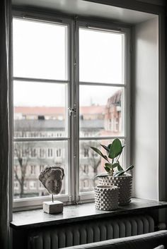 Tour a Serene and Spacious Stockholm Home with a Modern Chic Style - NordicDesign Window Ledge Decor, Modern Style Homes, Bohemian House, Nordic Design, Cheap Home Decor, Decoration, Living Room Decor, Interior Design, House Styles