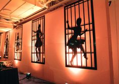 Cell Block Tango silhouettes for a Chicago the Movie Party