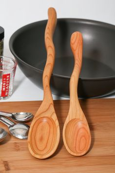 Companion Wooden Spoon Set - Kitchen Stirring Spoons - Made from Cherry Wood - Made in Maine - USA on Etsy, $39.00
