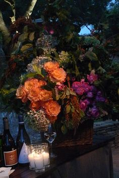 One of the beautiful autumn bouquets created by Mindy Rice for our wedding, via NinaGriscom.com