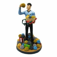 Kurt S. Adler Star Trek Spock & Tribbles Christmas Tablepiece