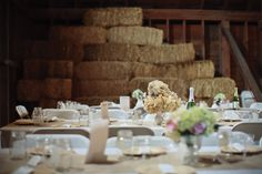 handmade paper flowers - Vintage rustic Barn wedding with country western details. Custom paper goods and styling by www.tiethatbindsweddings.com, Photos by Bryan Aulick www.bryanaulick.com