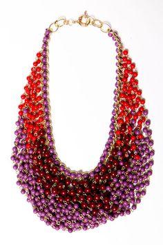 Fall Draped Bead Necklace